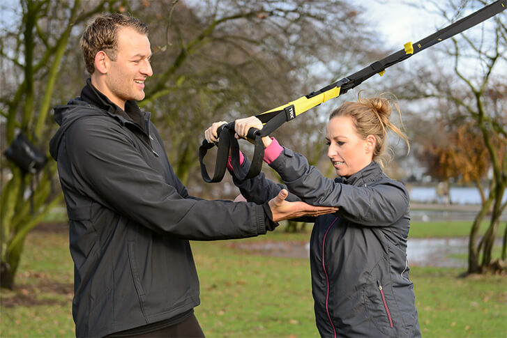 Training mit TRX-Bändern
